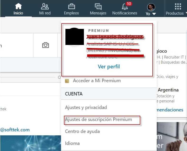 Dar de baja LinkedIn Premium