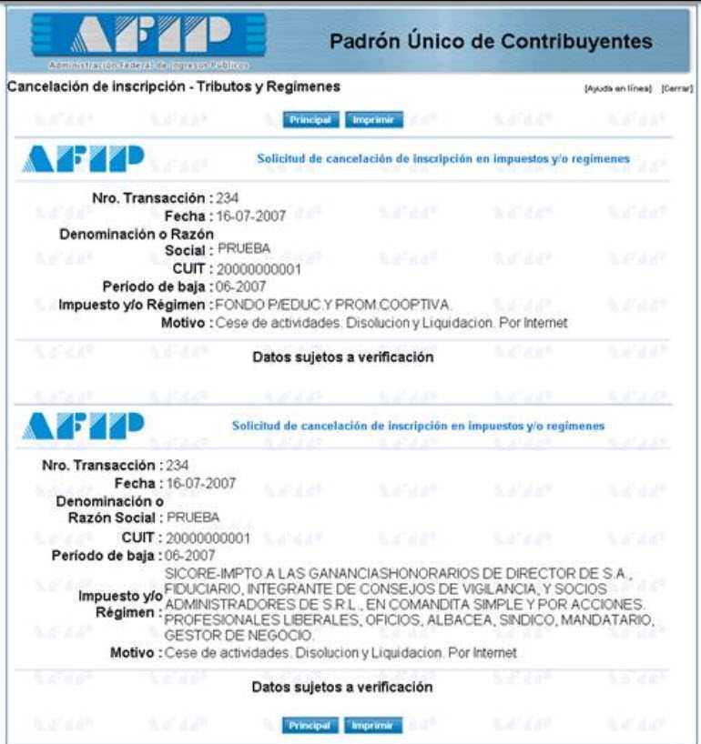 Constancia AFIP