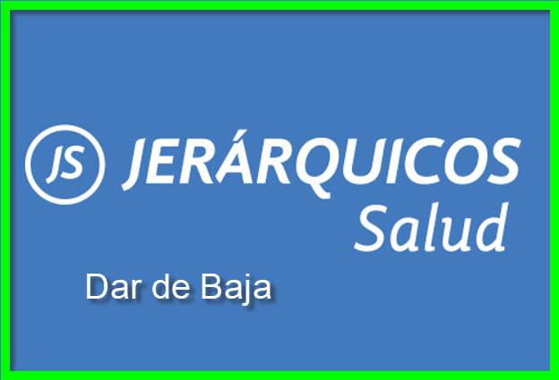 Dar de Baja Jerárquicos Salud